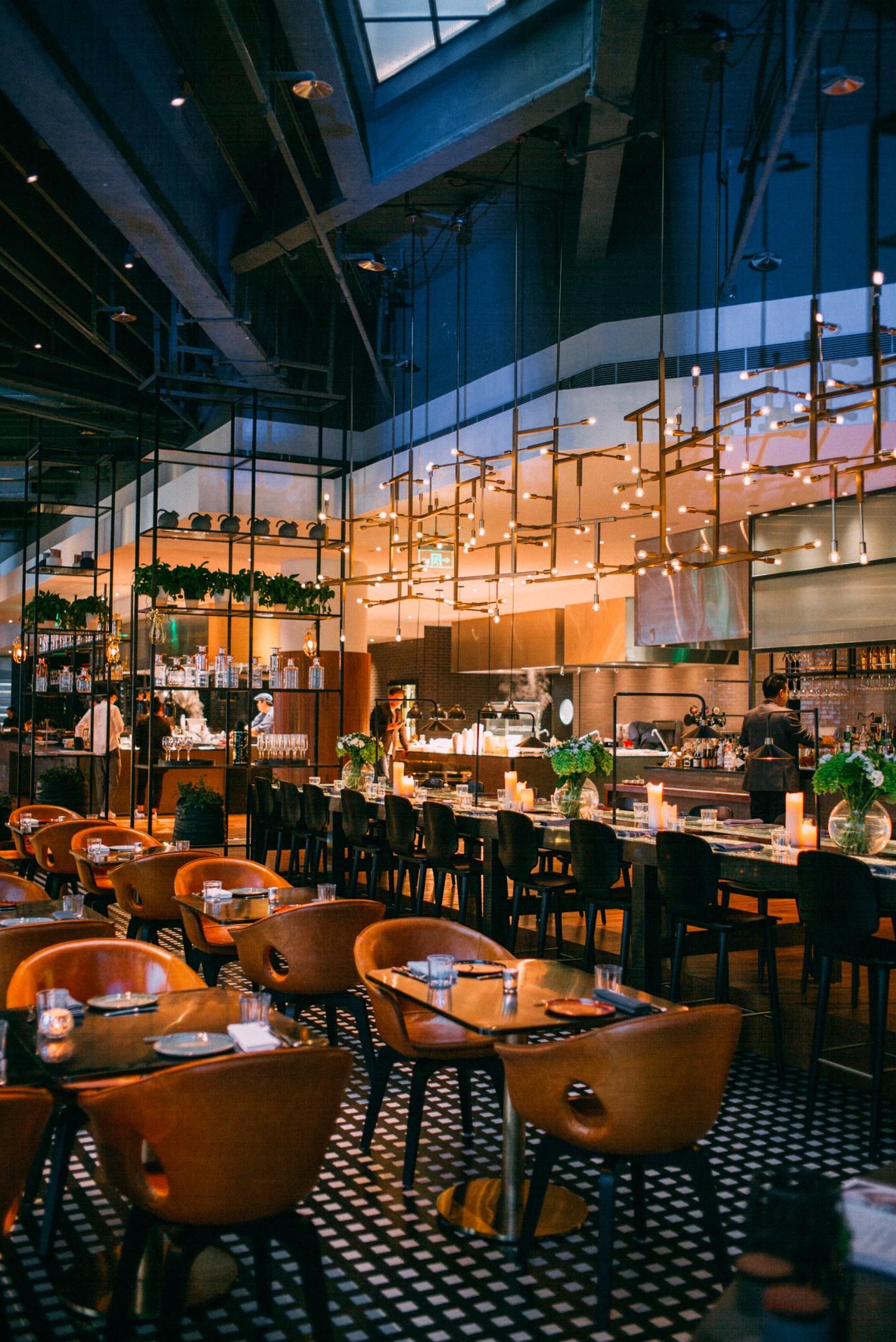 W Shanghai restaurant interior