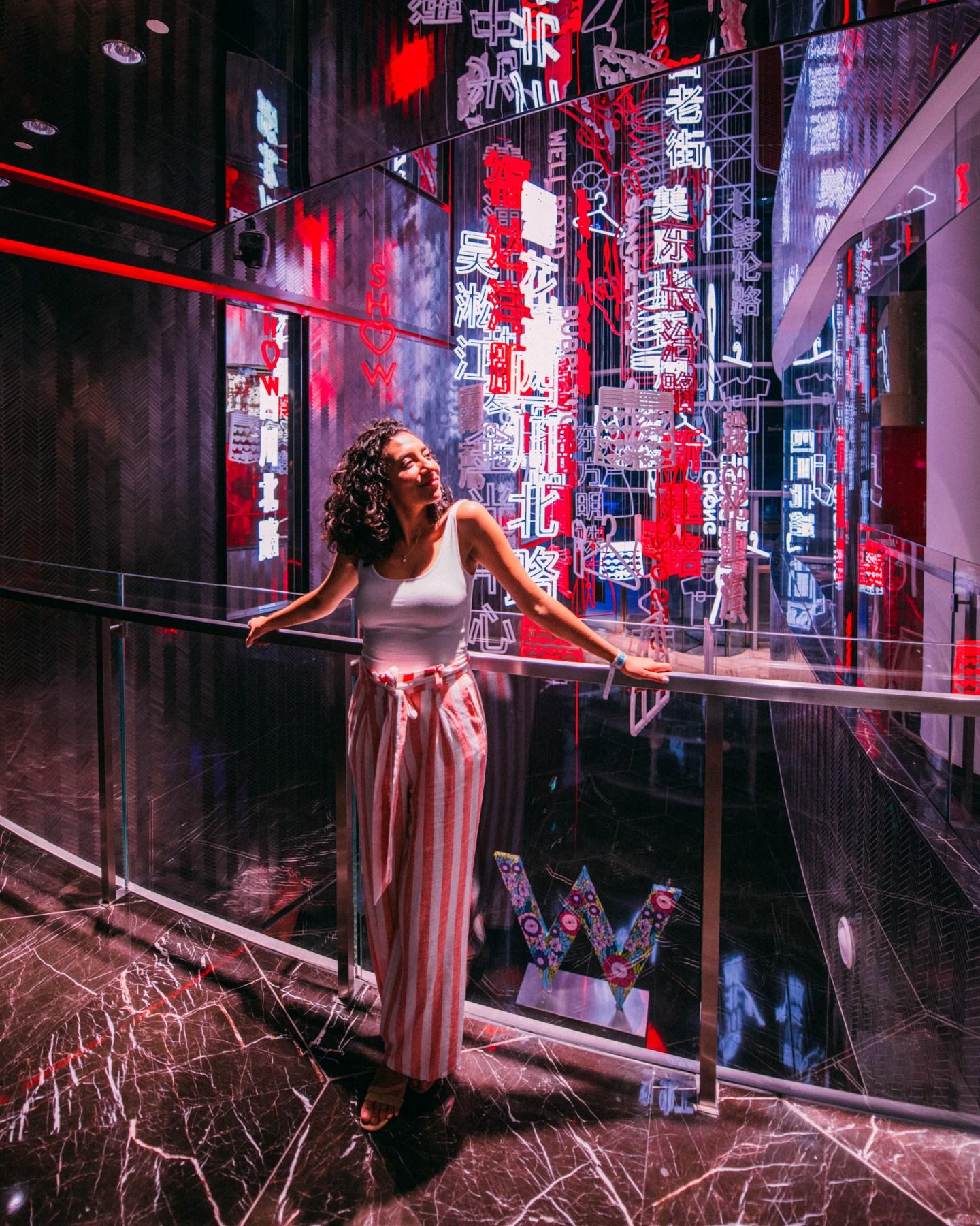 W Shanghai art instalation