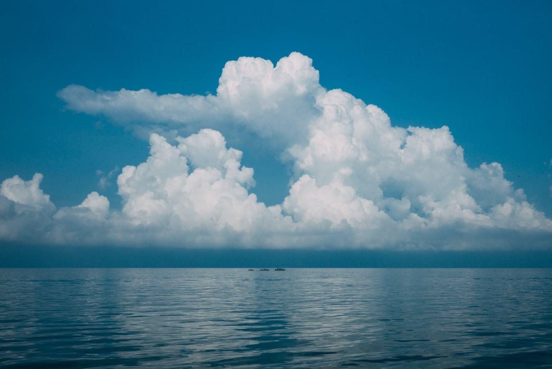 clouds shape of heart