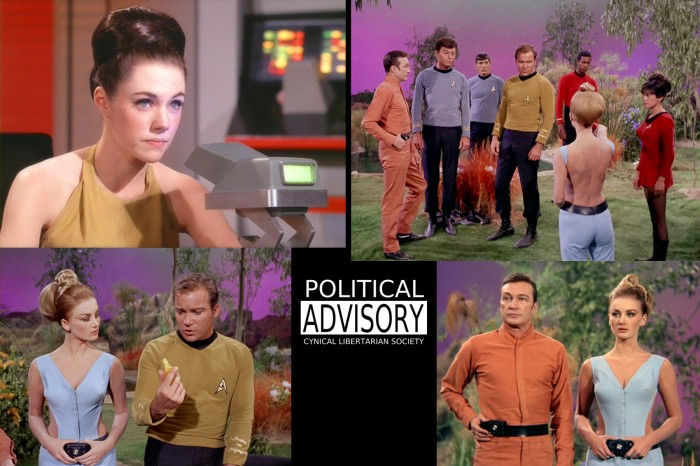 "Two of the hottest Star Trek chycks ever - from ""By Any Other Name""."