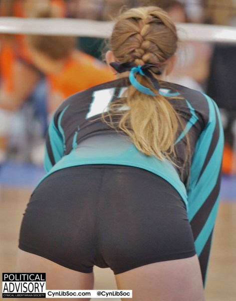 And she has to play volleyball and have a nice butt.