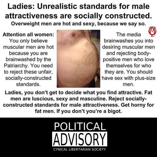 fuck fat men or you are a bigot - cls