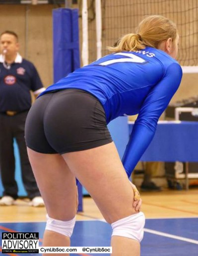Volleyball chycks are a thing. Who knew?