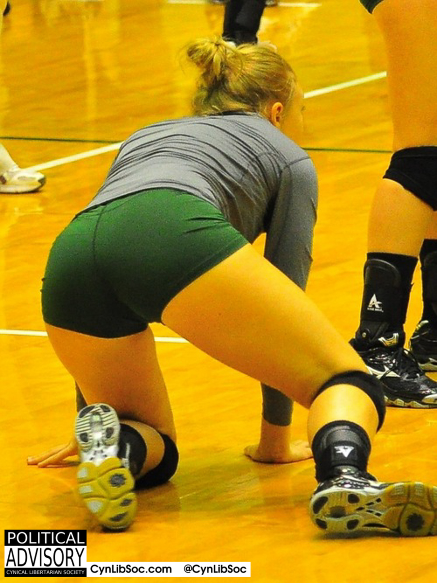 When volleyball girls fall down they get back up. They don't wait for Obama to help them up.
