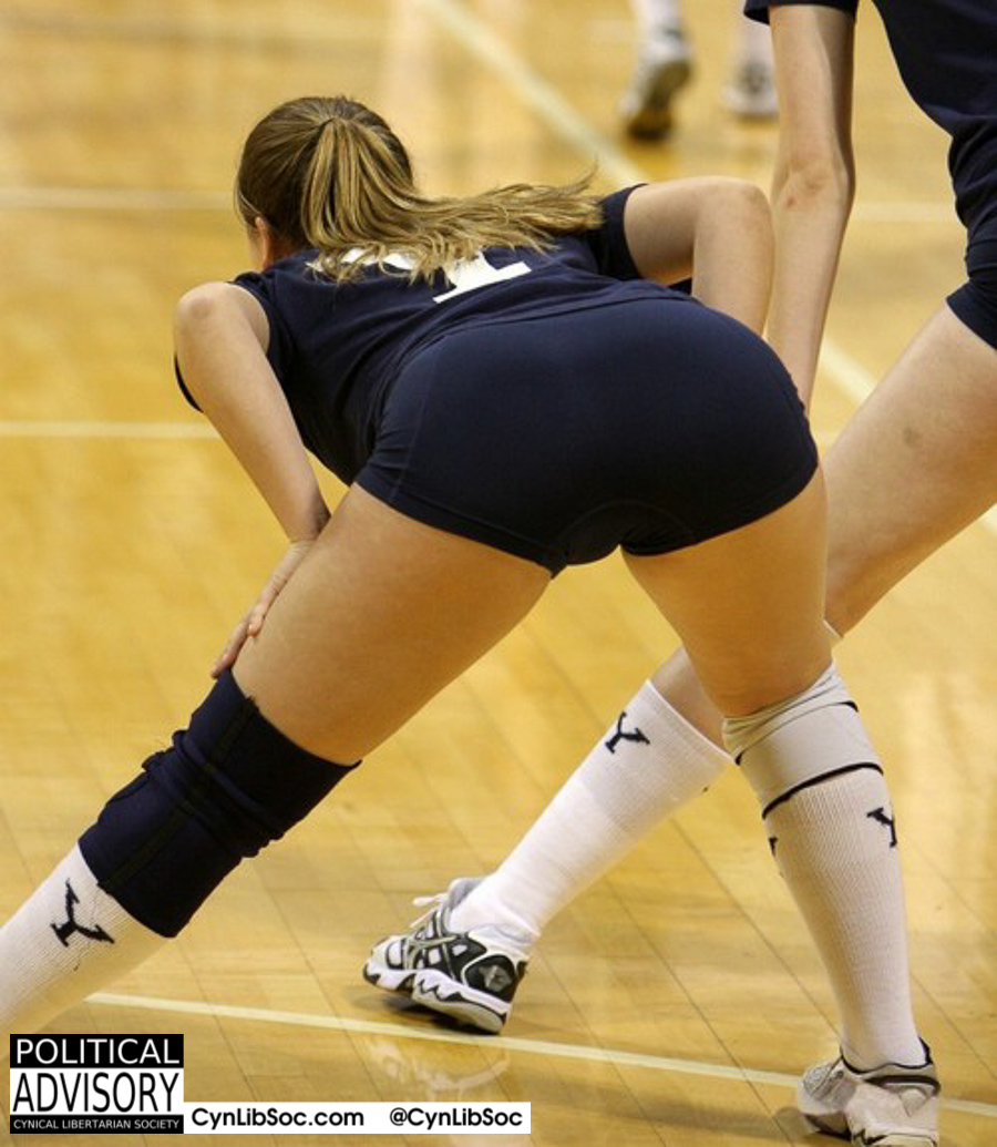 Volleyball chycks are the product of training and motivation. No femistatism involved.
