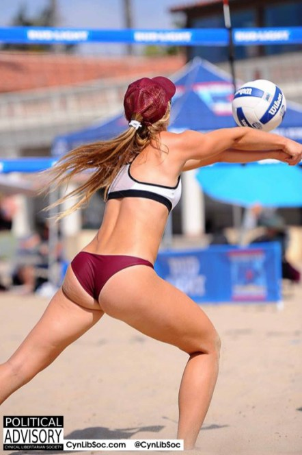 Being a volleyball chyck is hot but it's not a job.