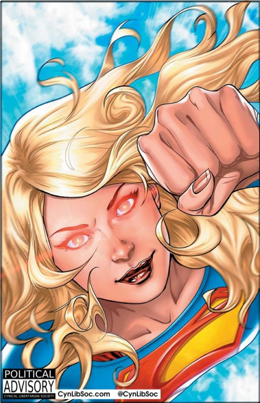 Supergirl doesn't need x-ray vision to see through your bullshit.