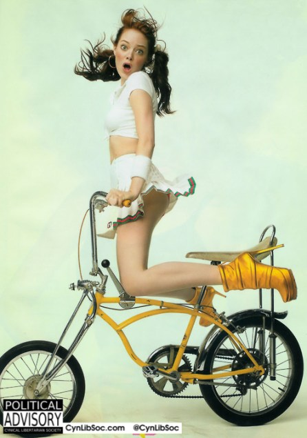I'd like to ride her bicycle.