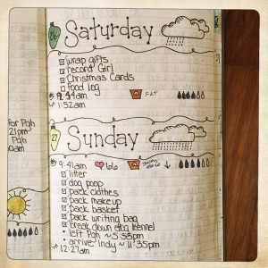 Bullet Journal Daily Page