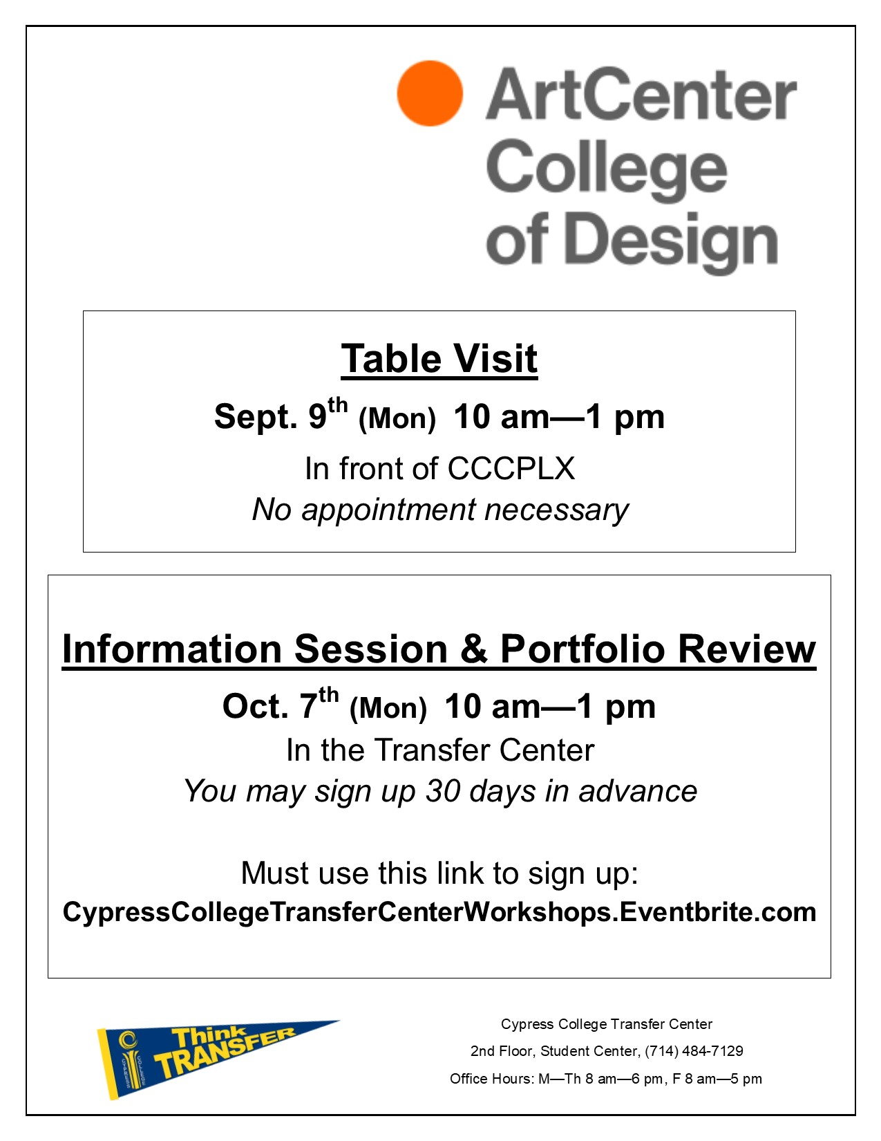 Artcenter College Of Design Info Session Portfolio Review