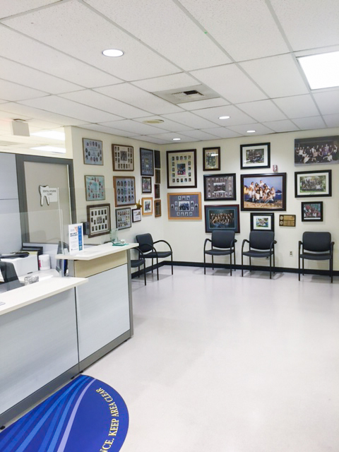 Renovated front office at the CYpress College Dental Hygiene Clinic