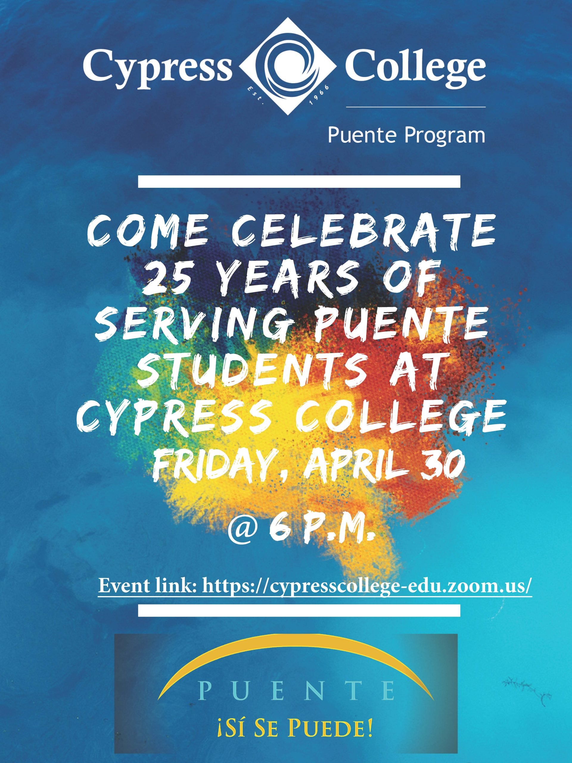 Celebrate 25 years of Puente flyer