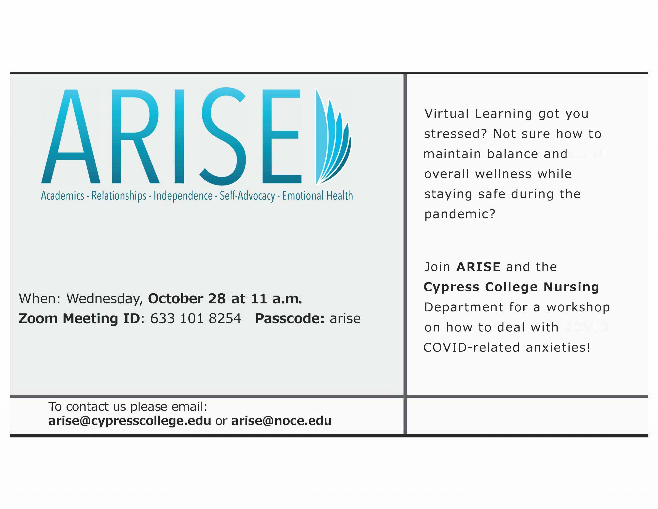 Wellness workshop flyer