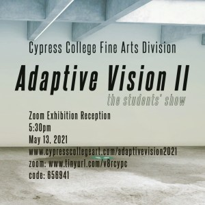 Flyer for art show opening night