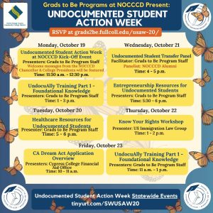 Flyer for undocumented student action week