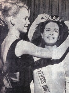 Woman being crowned Miss Cypress