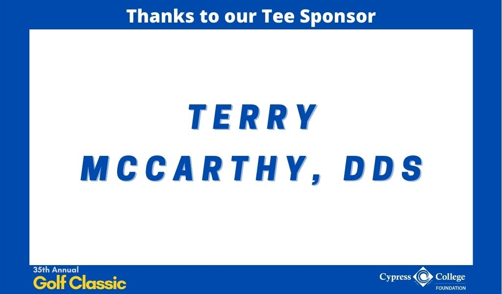 "Words ""Terry McCarthy, DDS"""