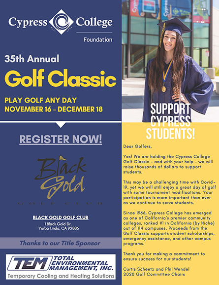 Golf Classic flyer