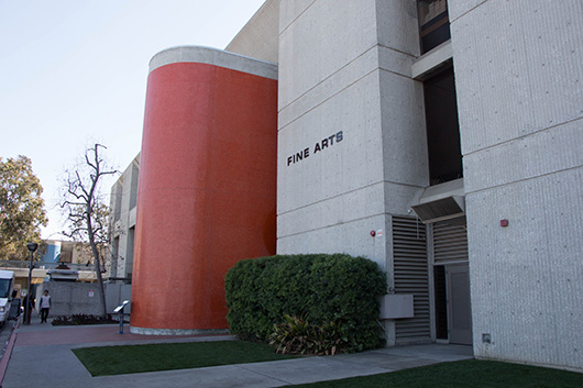Exterior of Fine Arts Building