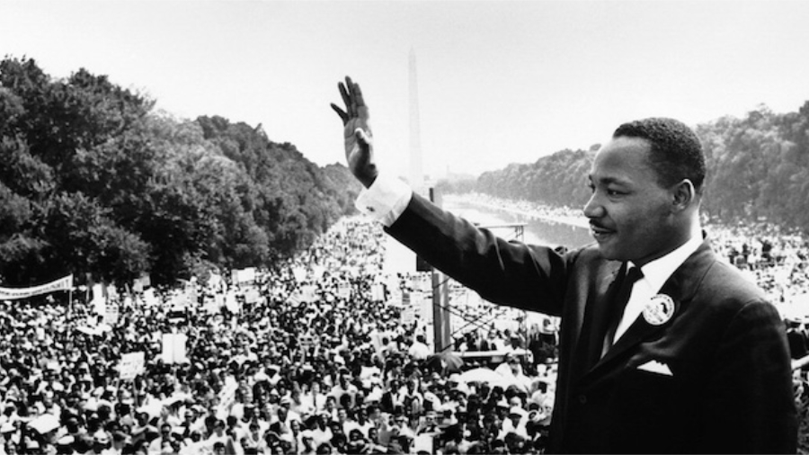 Martin Luther King JR at the Lincoln Memorial
