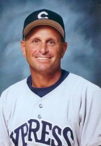 Cypress College baseball coach Scott Pickler