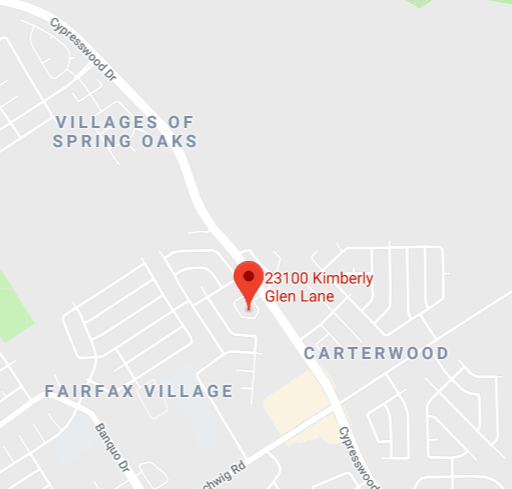 A map showing the approximate location of the 23100 block of Kimberly Glen Lane, in Spring Texas. (Google Maps)