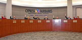 In a unanimous vote, the CFISD Board of Trustees approved calling a bond election for May 4, 2019, during its regularly scheduled meeting on Feb. 11. (CFISD courtesy photo)