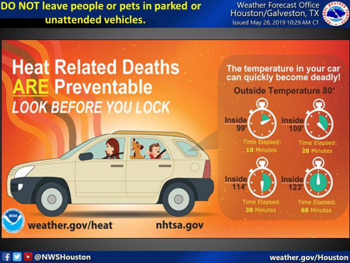 Heat-related deaths are preventable. Look before you lock.