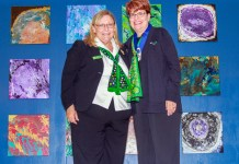 (Pictured left to right) Girl Scouts of Jacinto Council President and Board Chair Delores J. Hinkle and Debbie Lewis. Lewis received the Thanks Badge for her outstanding service to Girl Scouts during the council's annual volunteer appreciation event. To learn more about volunteering in Girl Scouts, visit gssjc.org/volunteer (GSSJC courtesy photo)