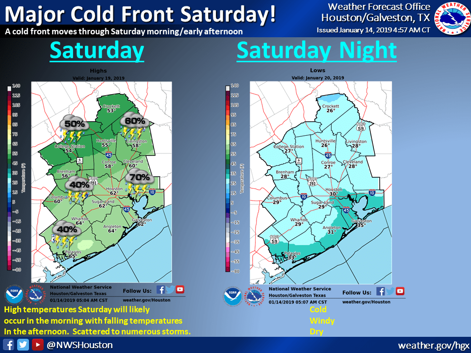 National Weather Service predicts freezing weekend - Cypress