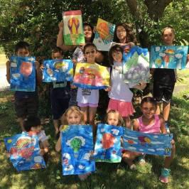 art camp in shade