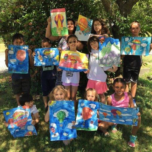 art camp in shade