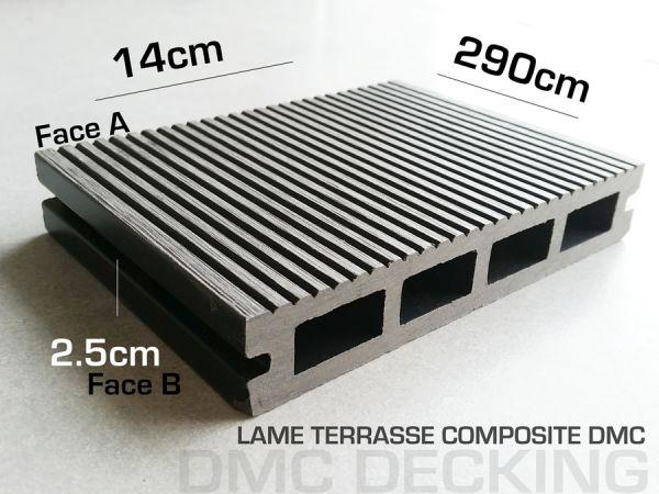 lame terrasse composite ardoise 2900x140x25