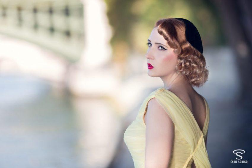 séance photo de Cyril Sonigo avec Nella Fragola et sa robe vintage