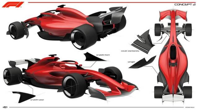 Koncept bolidu F1 na 2021 rok grafika 05