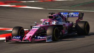 2019 Racing Point Stroll Testy Barcelona