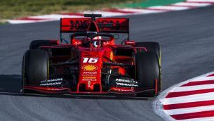 2019 Testy Ferrari Leclerc Barcelona