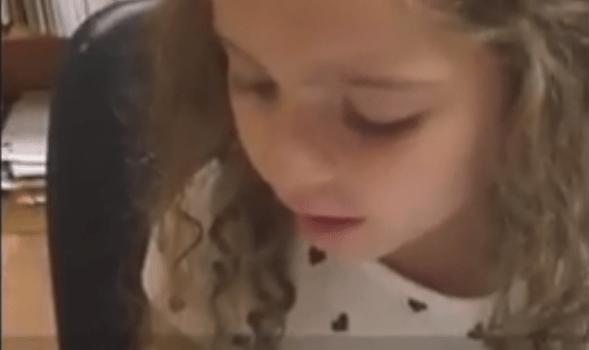 Cute Girl Learning Farsi in Cyrus Persian Academy