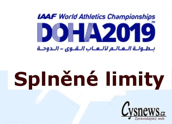 Splněné limity - MISTROVSTVÍ SVĚTA V ATLETICE 2019 Doha