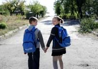 UNICEF pomáhá také dětem na východní Ukrajině, kde měl více než 5 let trvající konflikt zničující dopad na vzdělávací systém. Jen v loňském roce zajistil UNICEF přístup ke vzdělání pro 5,9 milionu dětí. © UNICEF/Morris VII Photo