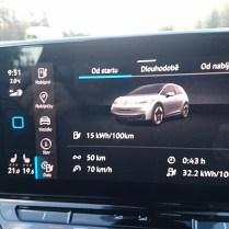 VW ID.3 sledování spotřeby