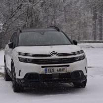 Citroën C5 ve sněhu
