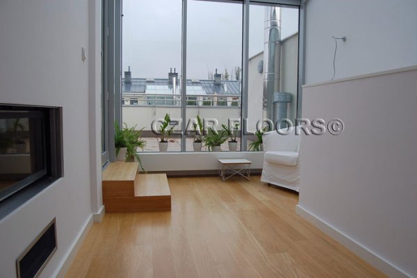 Hardwood floor white oak