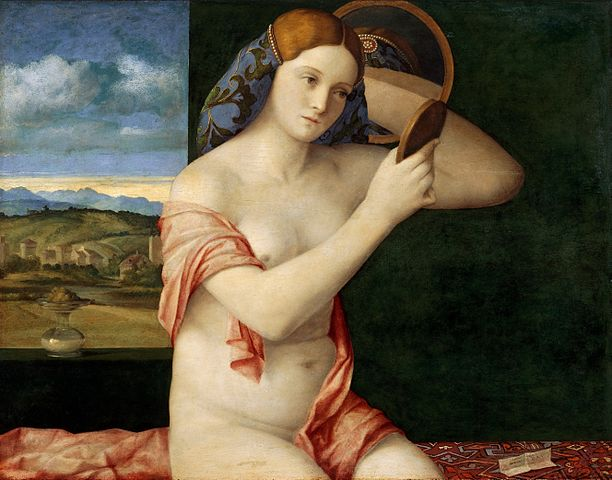 Giovanni Bellini women with a mirror