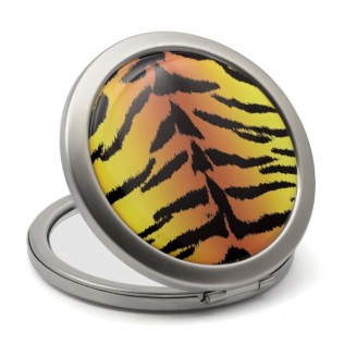 Tiger print compact mirror
