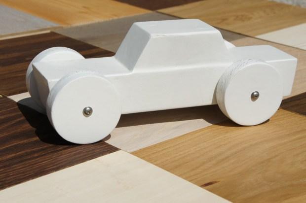 Wood car model