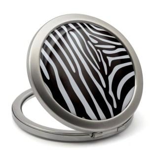 Zebra print compact mirror