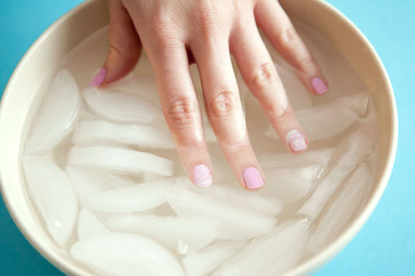 Remove gel nails with a bowl of acetone