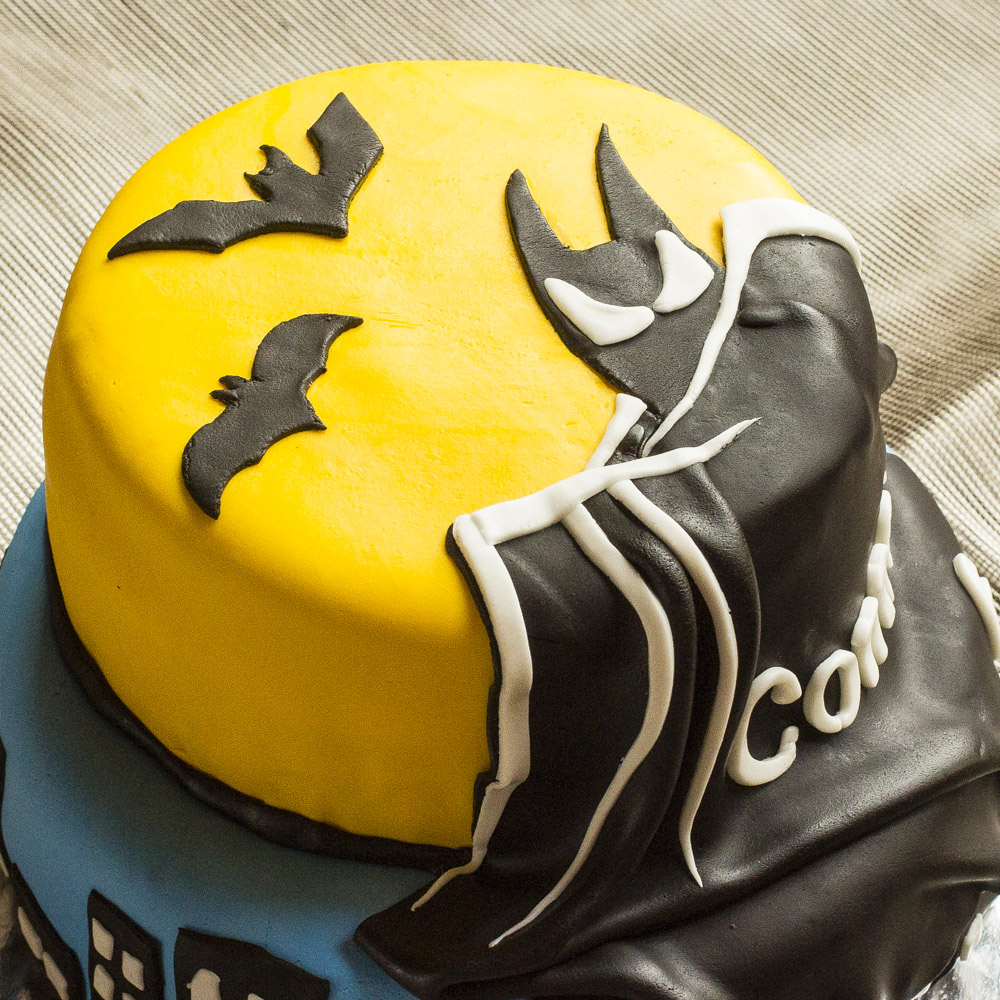Groovy Batman Birthday Cake Czech In The Kitchen Personalised Birthday Cards Veneteletsinfo