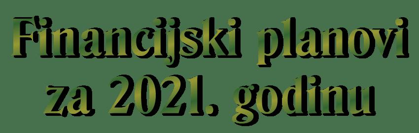 financijski planovi Centra za 2021. godinu - dekorativni naziv financijskog plana